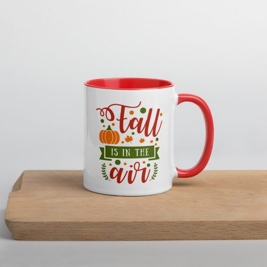 Fall Is In The AIr Mug with Color Inside