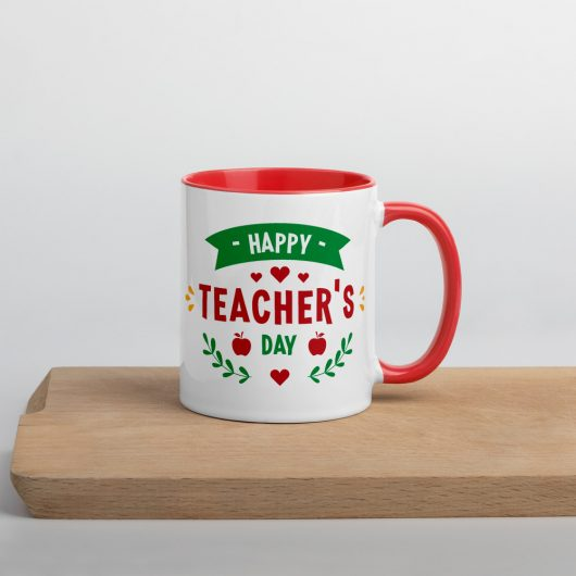 Happy Teachers Day Mug with Color Inside