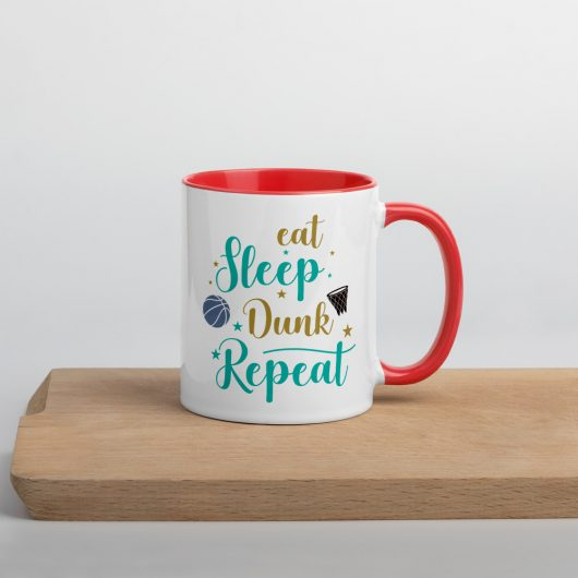 Eat Sleep Dunk Repeat Mug with Color Inside