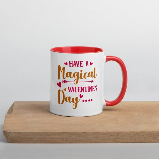 Have A Magical Valentines Day Mug with Color Inside
