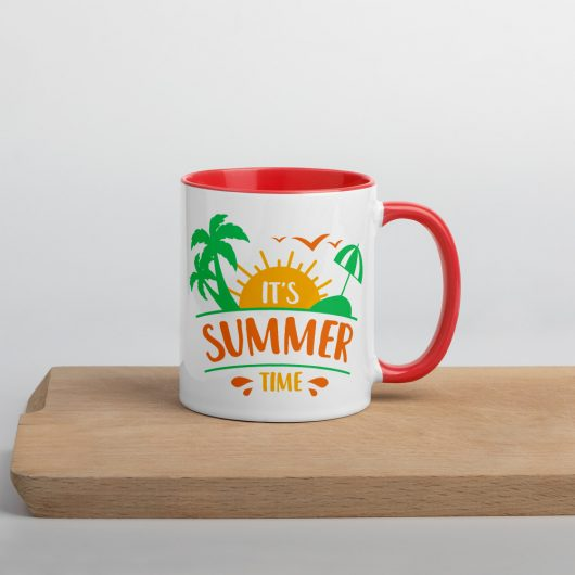 Its Summer Time Mug with Color Inside