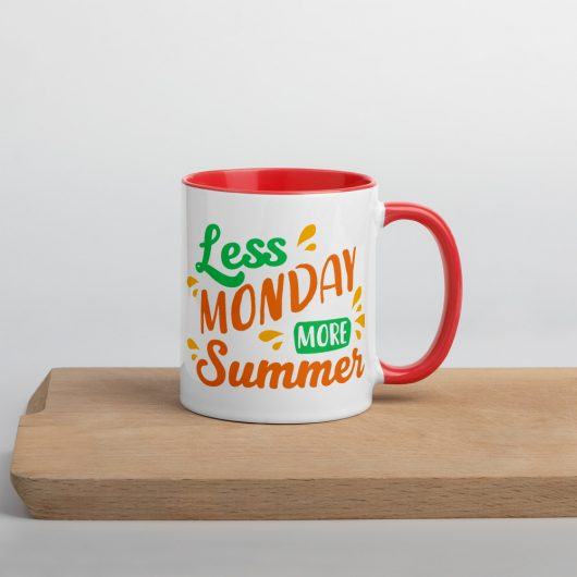 Less Monday More Summer Mug with Color Inside