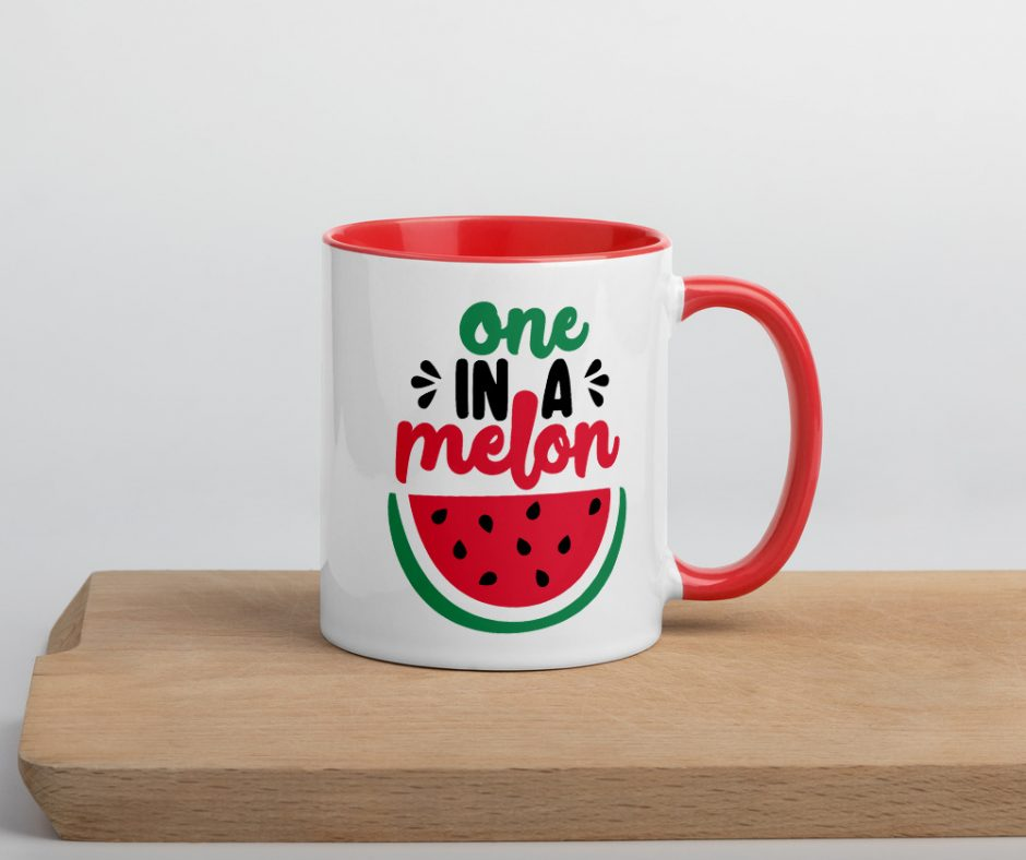 Once In A Melon Mug with Color Inside