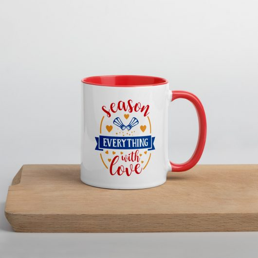 Season Everything With Love Mug with Color Inside