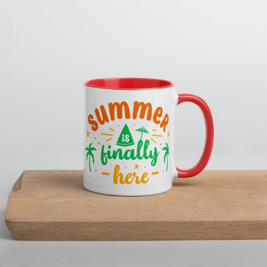 Summer Is Finally Here Mug with Color Inside