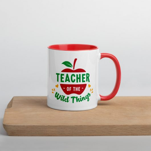 Teacher Of The Wild Things Mug with Color Inside