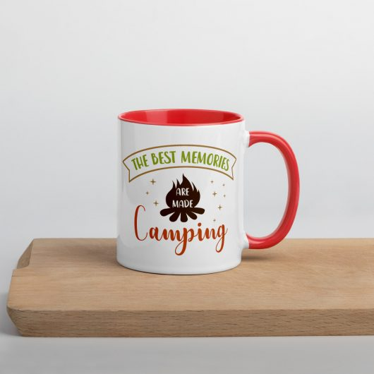 The Best Memories Are Made Camping Mug with Color Inside
