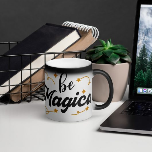 Be Magical Matte Black Magic Mug