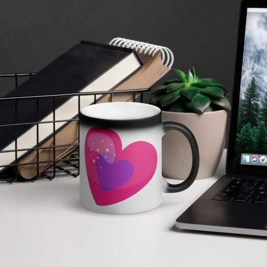 Valentines Day You Wrap My Heart In Stars Matte Black Magic Mug