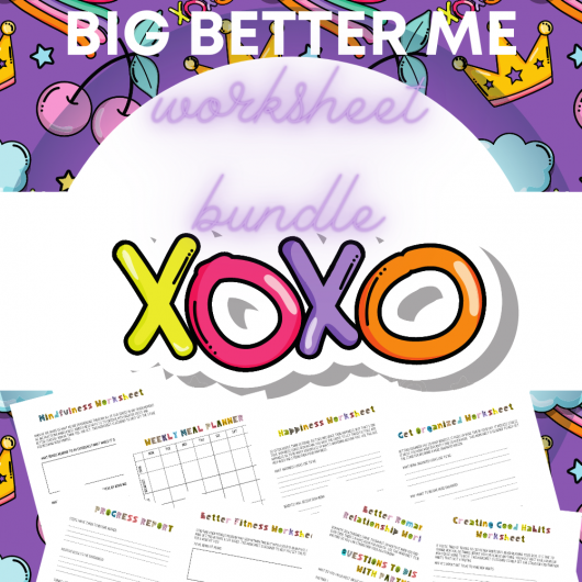 Big Better Me Worksheets Bundle Box