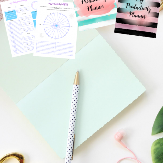 Pretty Pastel Colors Productivity Planner Printables