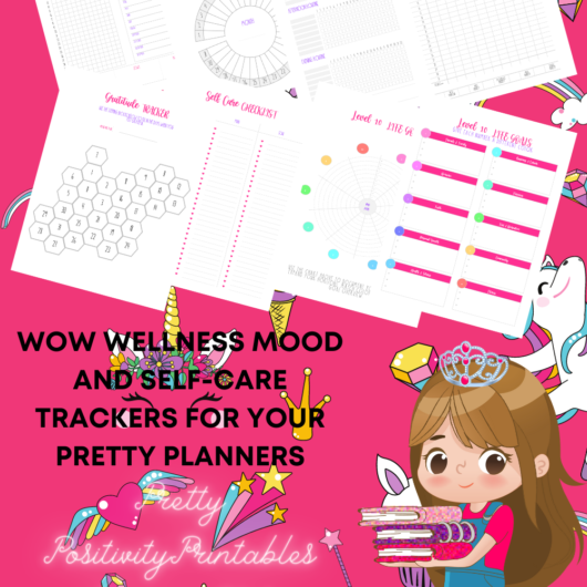Wow Wellness Mood and Self-Care Trackers For Your Pretty Planners