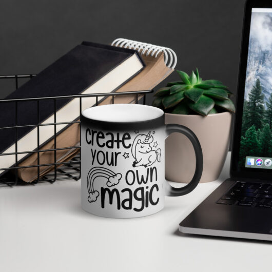 Create Your Own Magic Matte Black Magic Mug