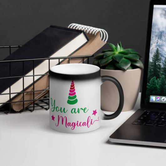 You Are Magical Like A Unicorn Matte Black Magic Mug