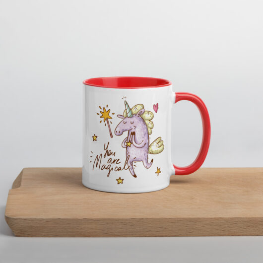 You Are Magical Yay Mug with Color Inside