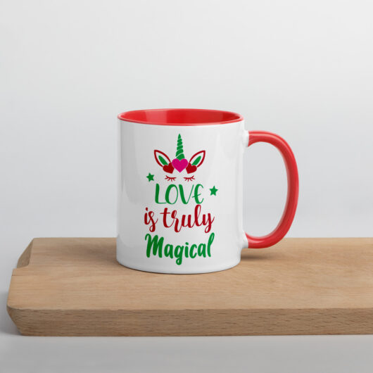 Love Is Truly Magical Design 1 Mug with Color Inside