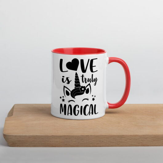 Love Is Truly Magical Design 2 Mug with Color Inside