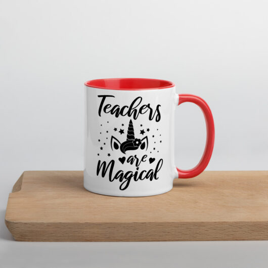 Teachers Are Magical Mug with Color Inside