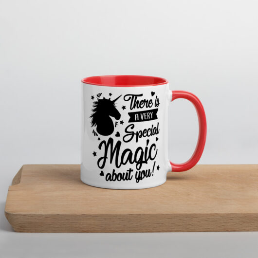 There Is A Very Special Unicorn Magic About You Design 2 Mug with Color Inside