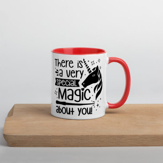 There Is A Very Special Unicorn Magic About You Mug with Color Inside