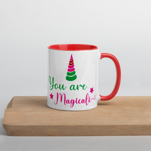 You Are Magical Like A Unicorn Mug with Color Inside