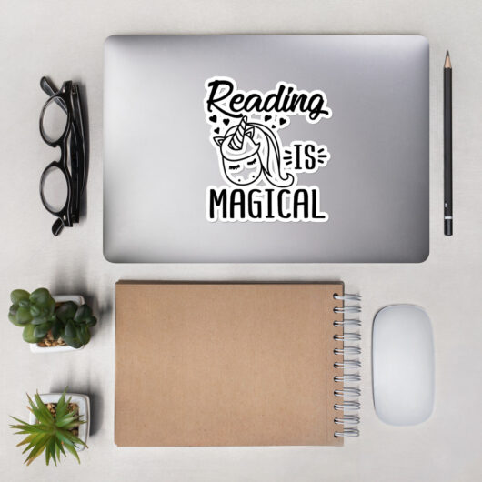 Reading Is Like Magical Unicorns Bubble-Free Vinyl Sticker