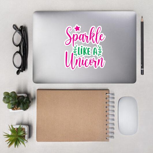 Sparkle Like A Unicorn Design 1 Bubble-Free Vinyl Sticker