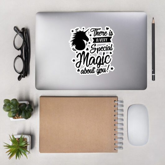 There Is A Very Special Unicorn Magic About You Design 2 Bubble-Free Vinyl Sticker