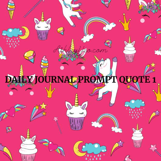 Daily Journal Prompt Quote 1