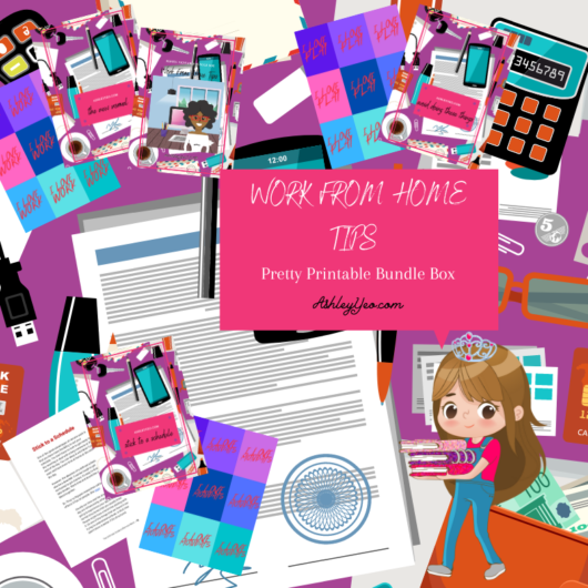 Work From Home Tips Pretty Printable Bundle Box