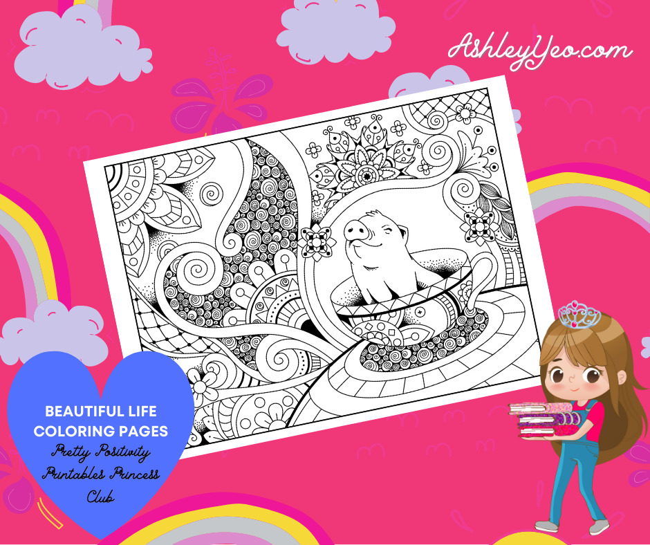 Beautiful Life Coloring Page 1