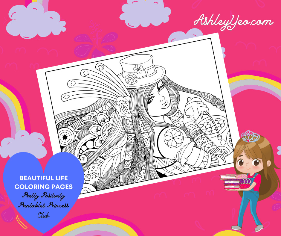 Beautiful Life Coloring Page 2