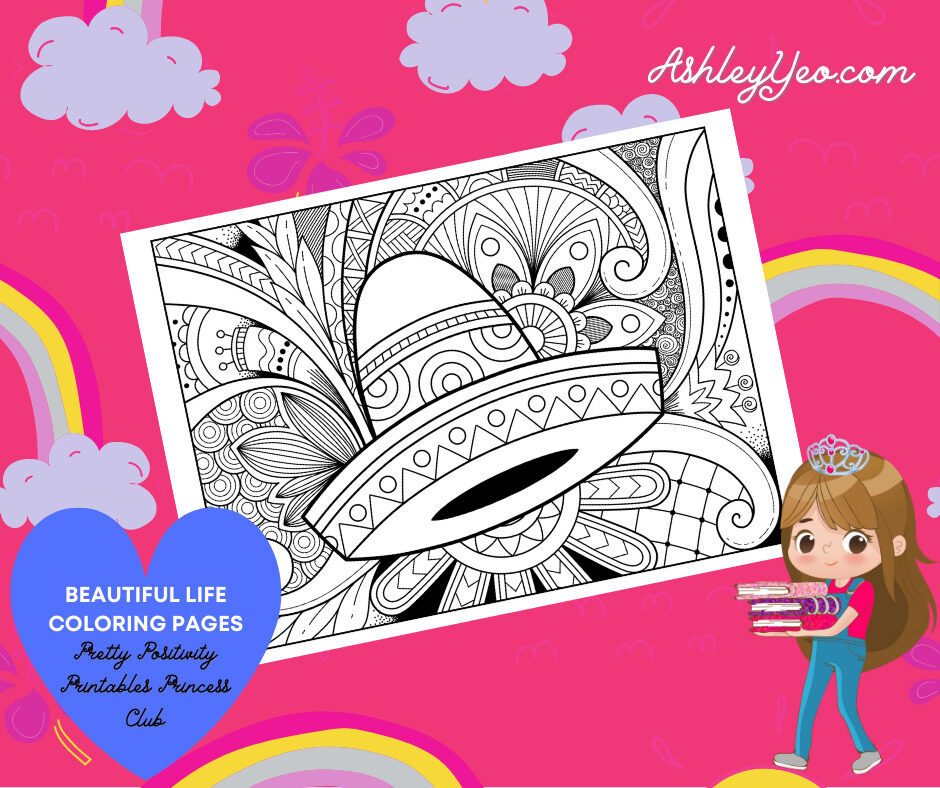 Beautiful Life Coloring Page 3