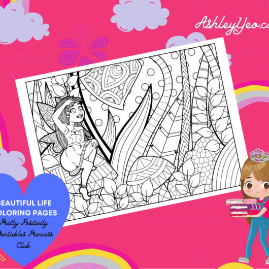Beautiful Life Coloring Page 4