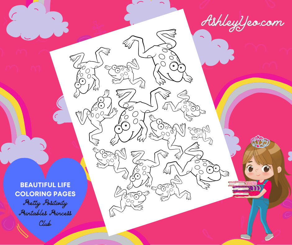 Beautiful Life Coloring Page 5