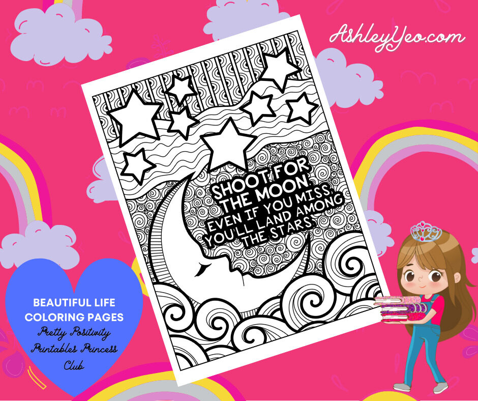 Beautiful Life Coloring Page 7