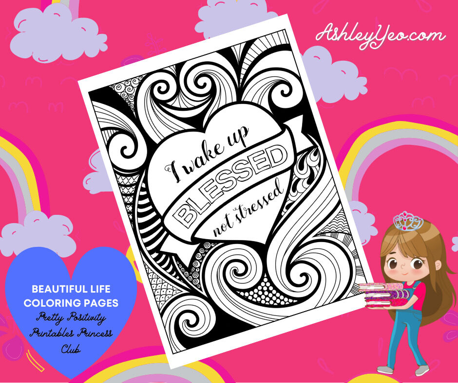 Beautiful Life Coloring Page 8
