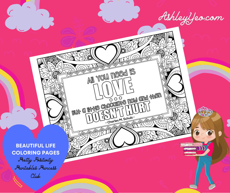 Beautiful Life Coloring Page 9
