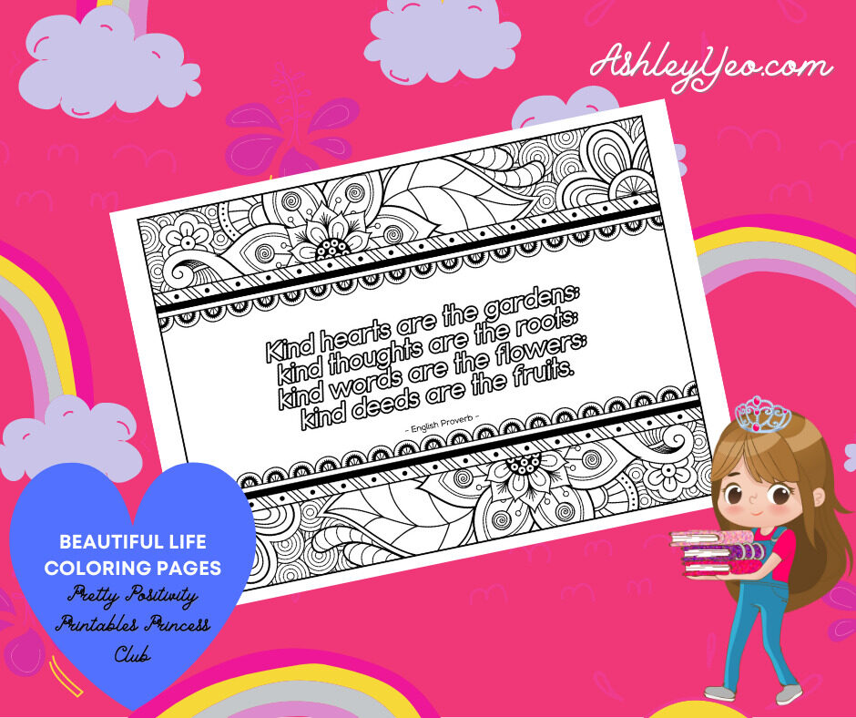 Beautiful Life Coloring Page 10