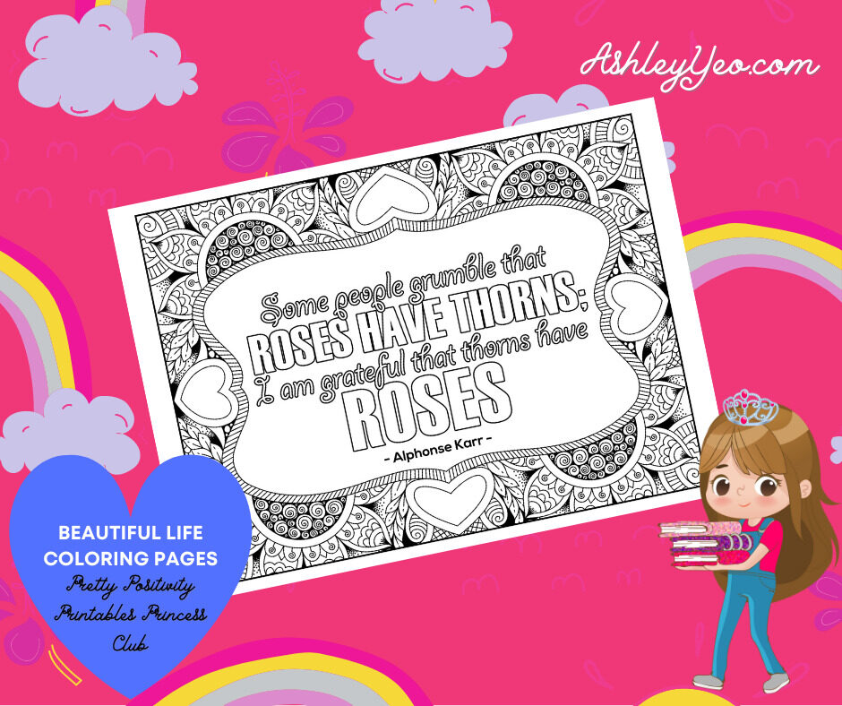 Beautiful Life Coloring Page 13
