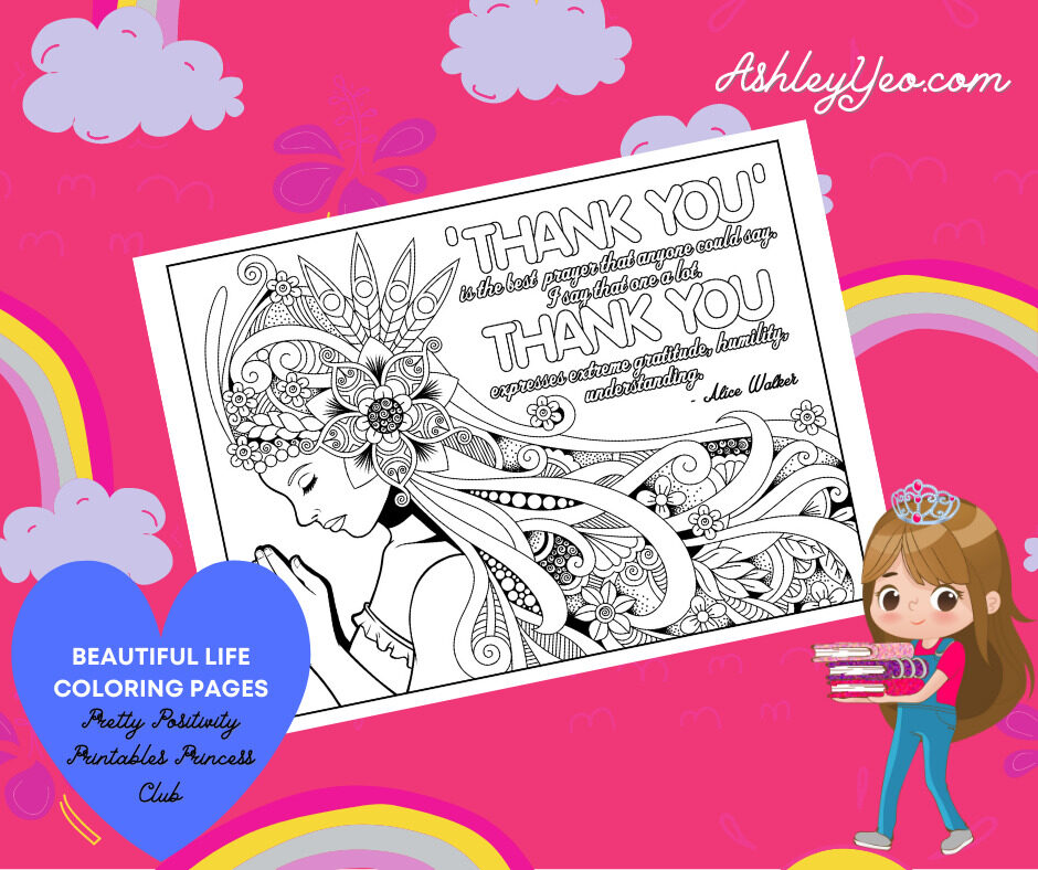 Beautiful Life Coloring Page 14