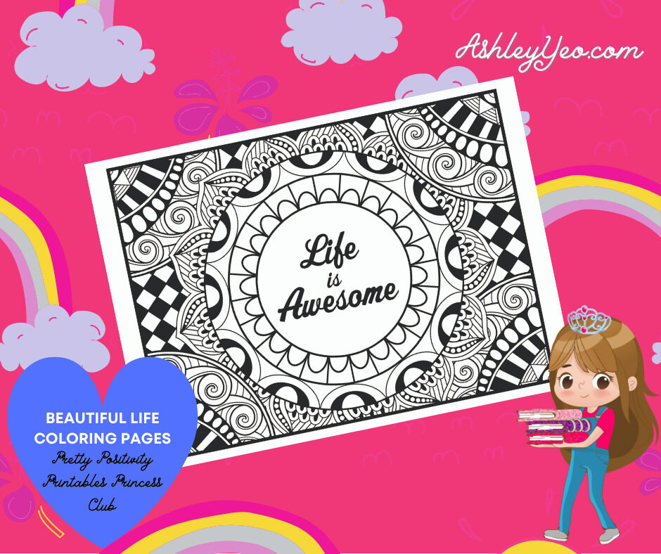 Beautiful Life Coloring Page 15