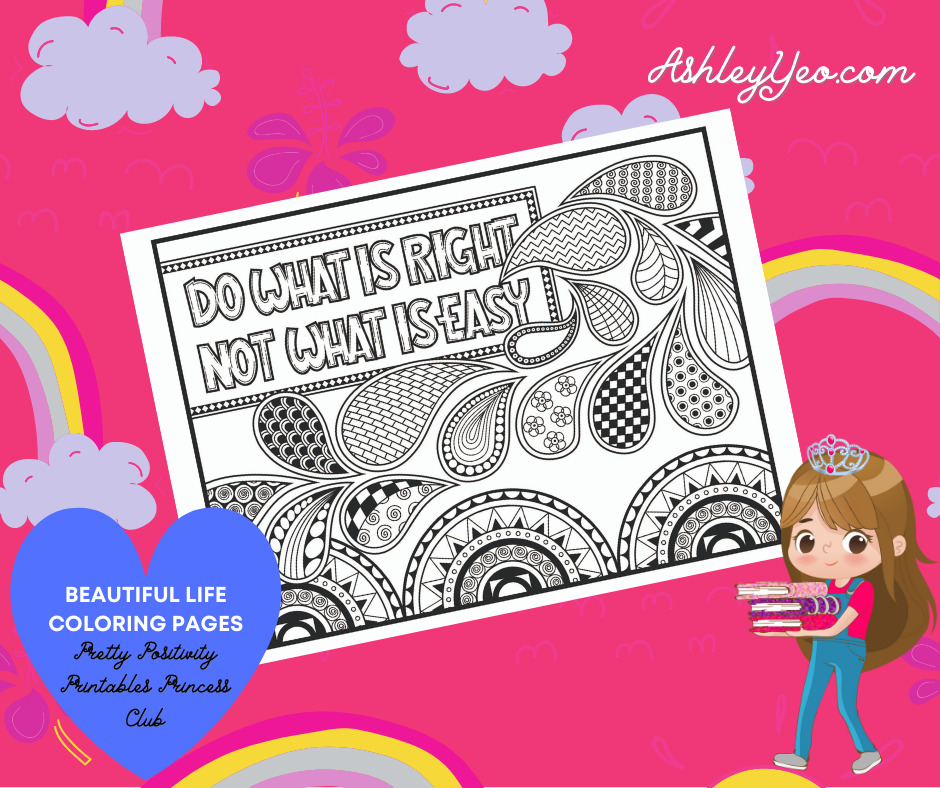 Beautiful Life Coloring Page 17