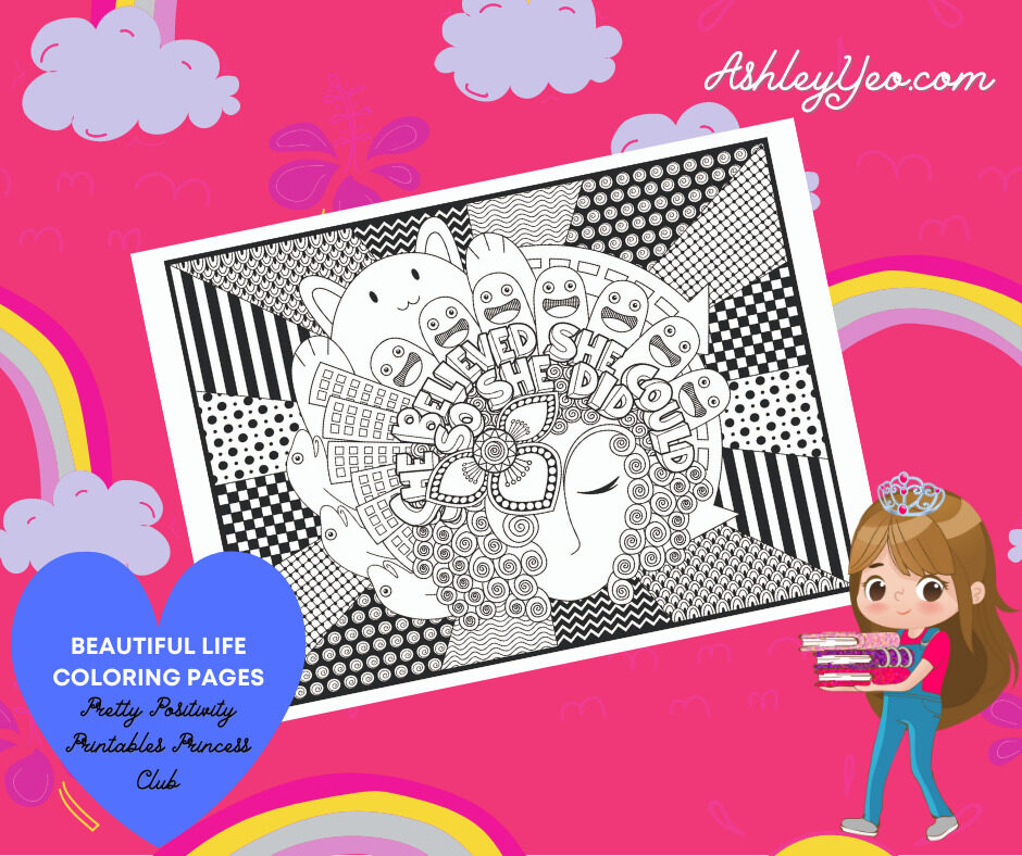 Beautiful Life Coloring Page 18
