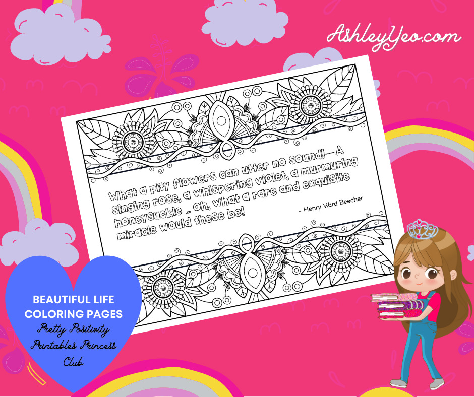 Beautiful Life Coloring Page 19