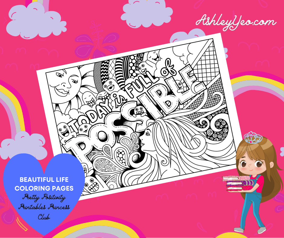 Beautiful Life Coloring Page 21