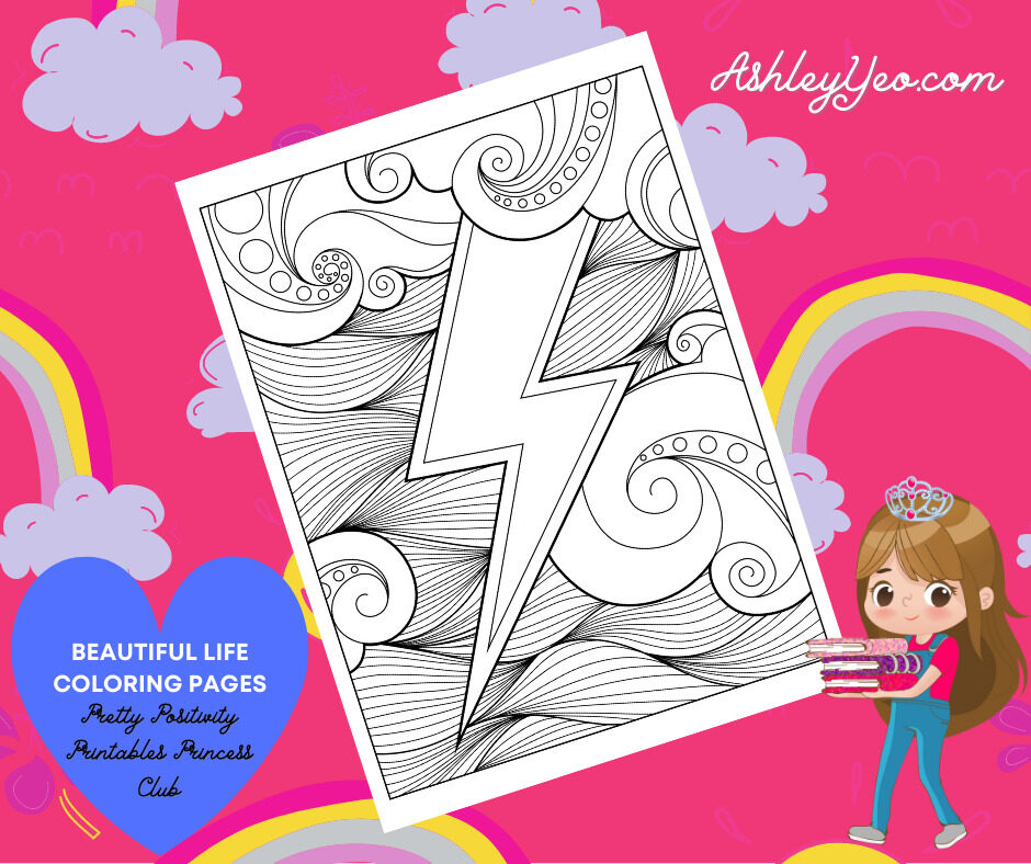 Beautiful Life Coloring Page 23