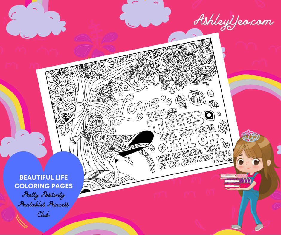 Beautiful Life Coloring Page 25