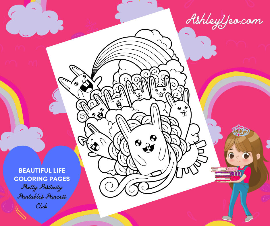 Beautiful Life Coloring Page 28