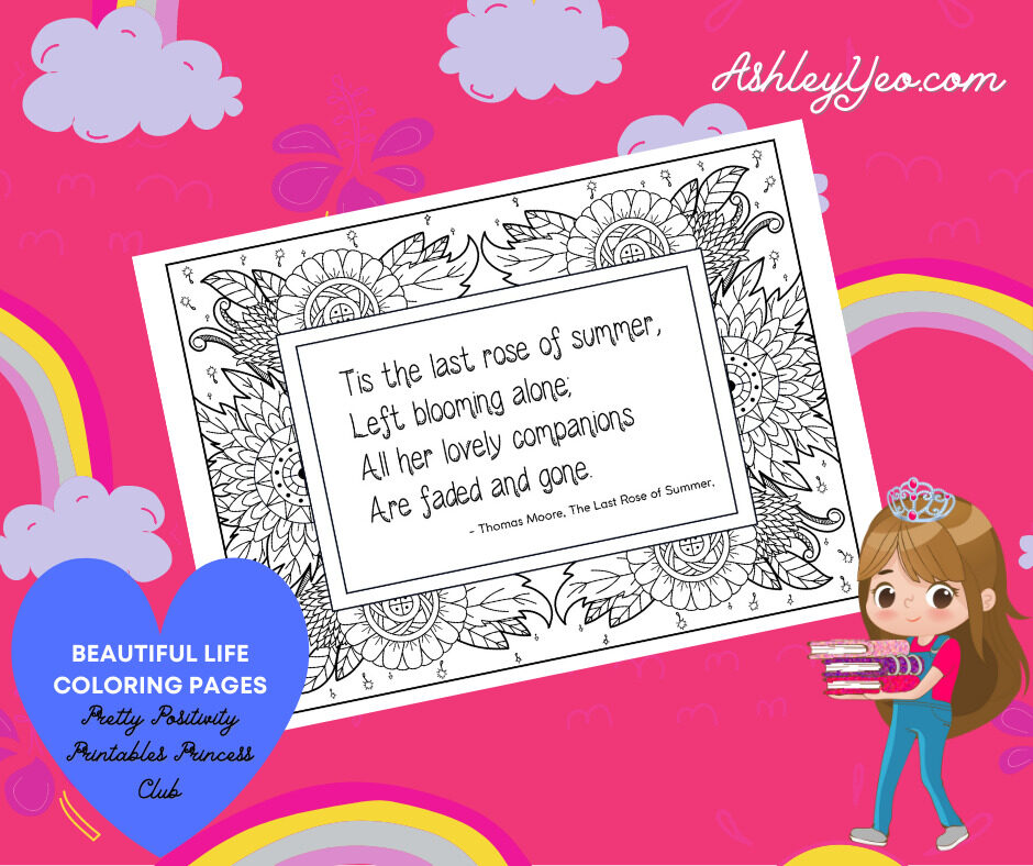 Beautiful Life Coloring Page 29